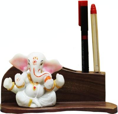 SR Crafts 2 Compartments Wooden Pen Holder