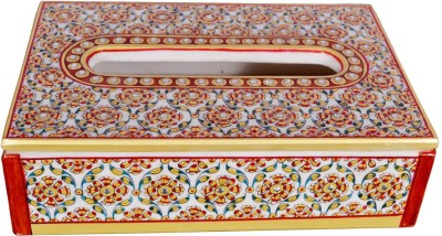 Shilpbazaar 1 Compartments Marble Tissue Holder