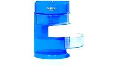 Chrome Multipurpose 6 Compartments Plastic Pen Stand