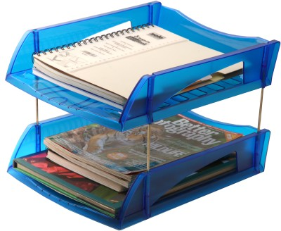 Solo 2 Compartments Tray(Transparent Blue)