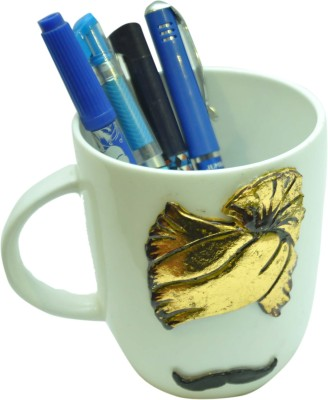 MohanJodero 1 Compartments Ceramic Ceamic Pen Holder