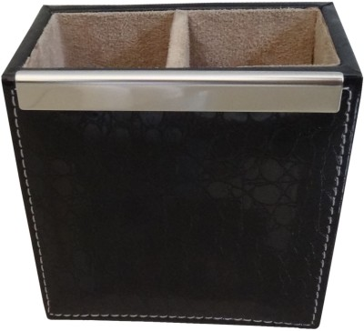 Synergy 2 Compartments Leather Pen Stand