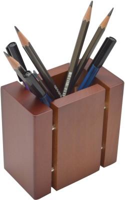 Knott BLU/PH 1 Compartments Wooden Pen/Pencil Holder