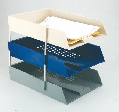 Kebica 3 Compartments PLASTIC FILE TRAY
