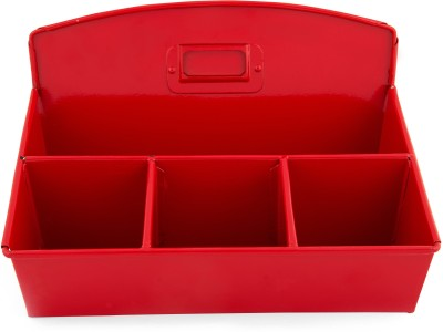 Elan D.O. 4 Compartments Steel Stationery Holder