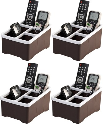 Lifestyle-You HH45 4 Compartments Plastic 4 Pcs Remote Control Stand