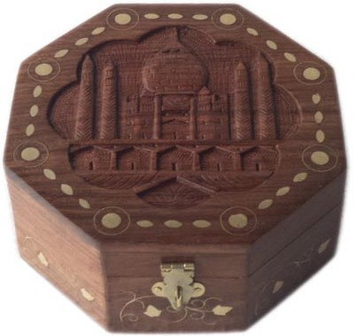 Home Sparkle 1 Compartments SHESHAM WOOD Jewellery Box