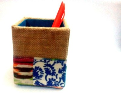 Expression Crafts 1 Compartments Jute, Hardboard Pen Stand