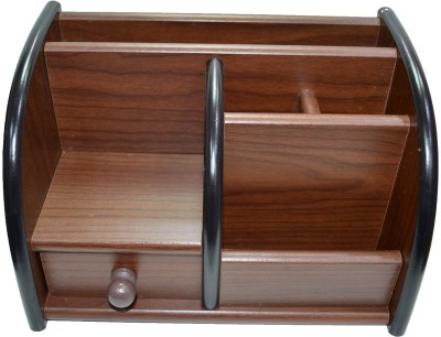 Alishba 6 Compartments wooden pen holder