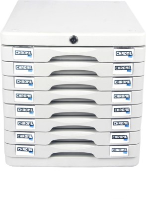 Chrome 8 Compartments Plastic File Cabinet Drawers