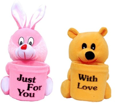 Ewi Stuffed 2 1 Compartments Plastic, Febric Pen Stand