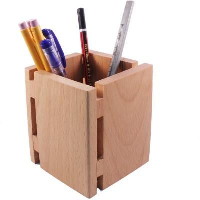 Kebica Executive 1 Compartments Wood Pen Holder