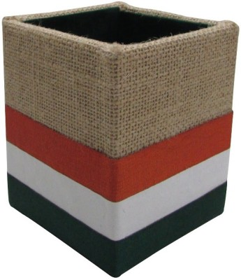 Indha Craft 1 Compartments Jute, Polyster Pen Stand