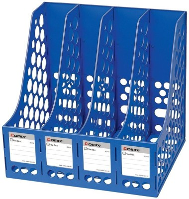 Comix Office 4 Compartments ABS Plastic 4 Partition Rack