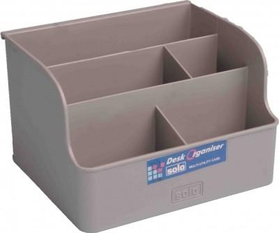 Solo Matrix 5 Compartments Plastic Desk Organiser