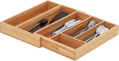 Howards Pha033h 6 Compartments Bamboo Cutlery Organiser