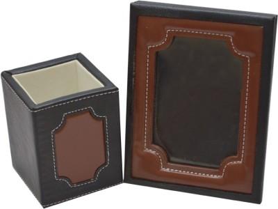 Knott 1 Compartments Artificial Leather Desk Organiser