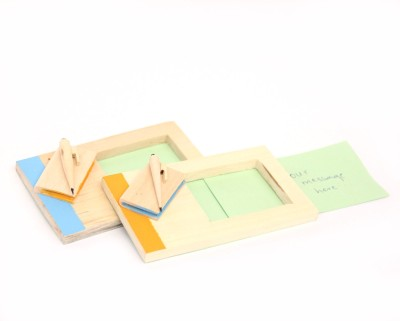 Ivei 1 Compartments Wooden Message Holder