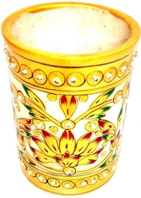 Shri Banke Handicraft 1 Compartments Makrana Marble Pen Stand