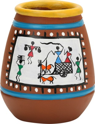 Agastya 1 Compartments Terracotta Warli art Penstand