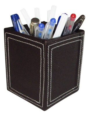 Indha Craft 1 Compartments MDF, Raxine Pen Holder