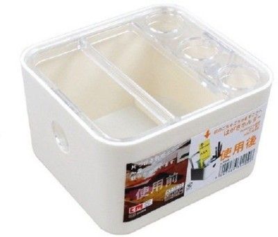 KM 5 Compartments Plastic Stationery Holder