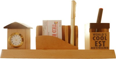 Tiedribbons Tabletop-105 1 Compartments Wooden Desk Sets