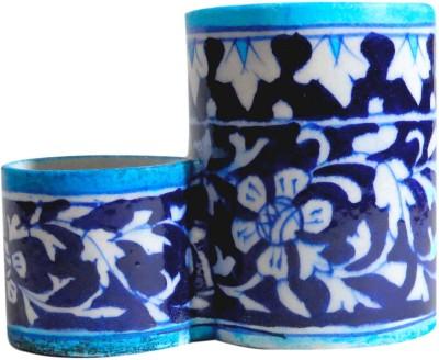 Aurea 2 Compartments Blue Pottery Penstand