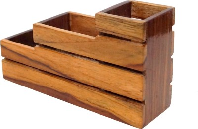 D,sign Lab 3 Compartments Teak Wood Wooden