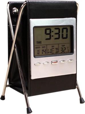 SJ 4 Compartments Form pen holder withSteel strut Clock & Pen Holder