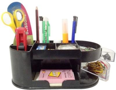 Y.E.S Office 1 Compartments Plastic Desk Organizer Set
