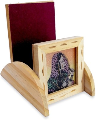 R S Jewels Cases 1 Compartments Wooden Mobile Holder