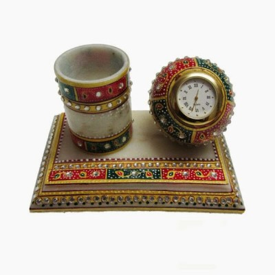 JaipurCrafts Pen Stand 1 Compartments Marble