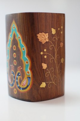 Art And Style 1 Compartments Wood Pen Holder