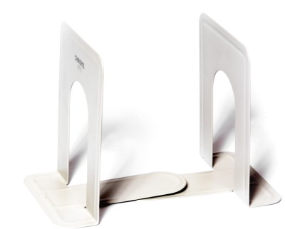 Chrome Durable 2 Compartments Metal Book Ends
