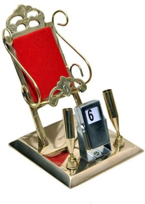 Homedesires 4 Compartments Brass Mobile Stand