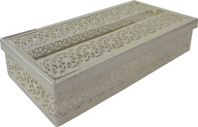 The Divine Luxury 1 Compartments Silver Plated Tissue Holder