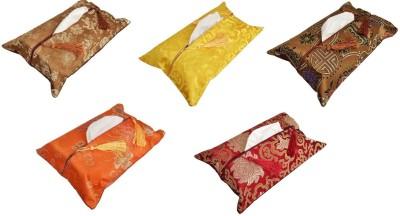 SG Multi-Colour Tissue Box Covers 1 Compartments Satin Tissue Box Holder