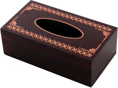 Mad(e) in India 1 Compartments Combination of Metal and MDF Tissue Box Holder