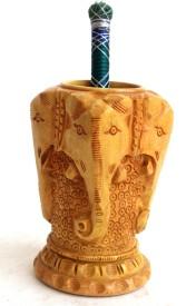 Craft International 1 Compartments Wooden Pen Holder