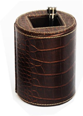 Knott BLU/PH 1 Compartments Artificial Croco Print Leather Pen/Pencil Holder