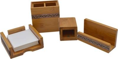 Knott 3 Compartments Bamboo Wood Desk Organiser