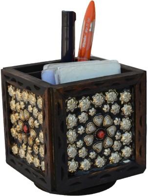 eCraftIndia ESR008 1 Compartments Wooden Pen Stand