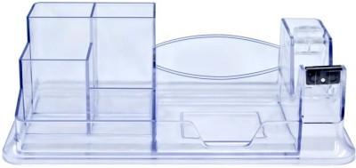 Kejea Premium 6 Compartments Plastic Pen Stand