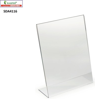 Rasper 1 Compartments Plastic A4 Acrylic Display Stand Paper And Sign Holder
