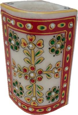 JaipurCrafts Meenakaari 1 Compartments Marble Pen Stand