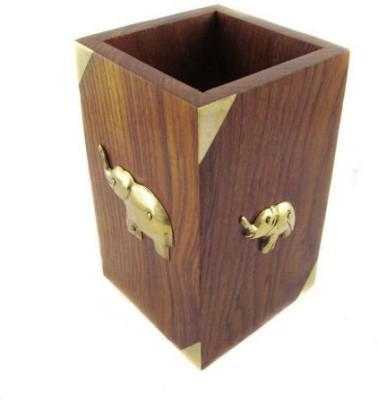 Sovam International 1 Compartments Wooden Pen Stand