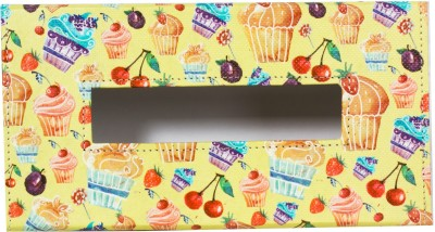 Thecrazyme Cupcake 1 Compartments Eco-Friendly leatherette Tissue Box Holder