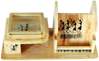 Villcart Art 3 Compartments Wood Mobile Stand