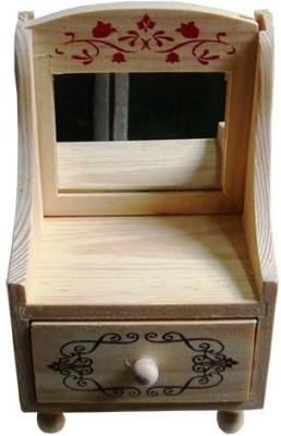 Vardhman Flower 1 Compartments Wood Storage Box